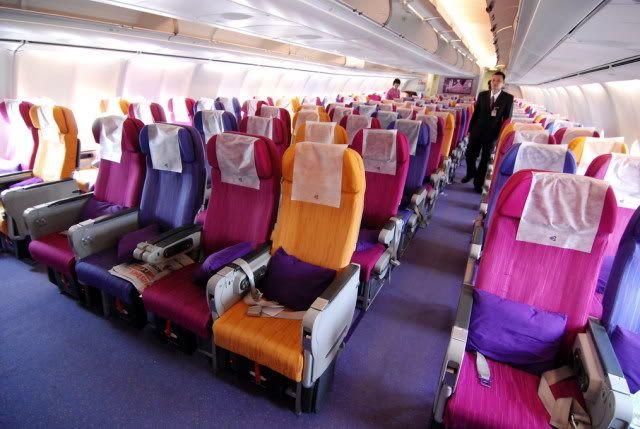 泰航的經濟艙座位(圖片來源:airliners.net)圖片