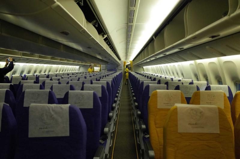 酷鸟航空座位分布图-台北 曼谷 酷鸟航空首航航班搭机体验