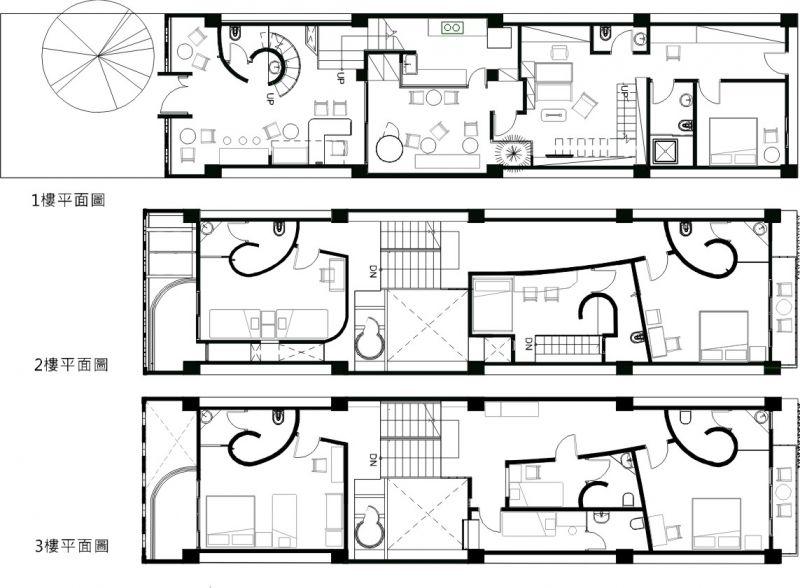 各层平面图;图片提供:傅域设计图片