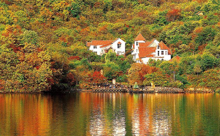 最佳观赏地在天华山风景区内,以5角枫和7角枫为主.