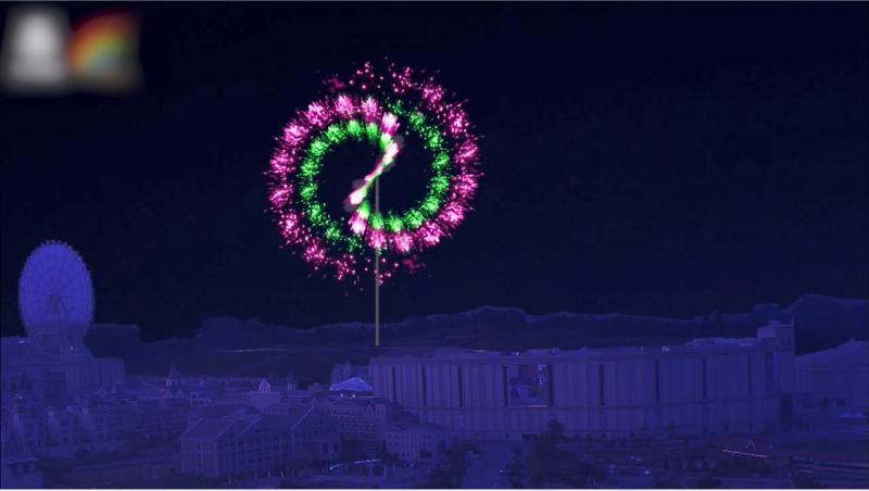 017 義大跨年煙火  3D立柱煙火 圖/義联集團提供