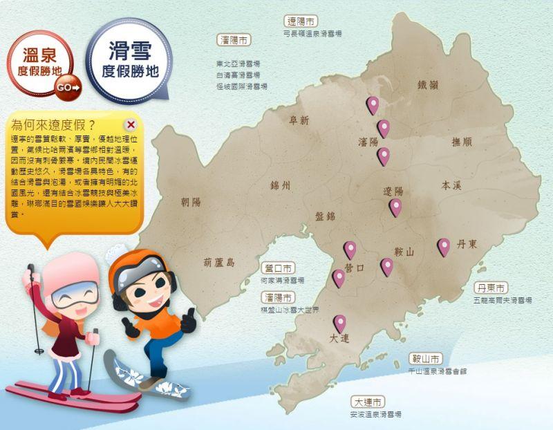 遼寧境內的滑雪場專業又多樣化,從初學到高手都能滿足。