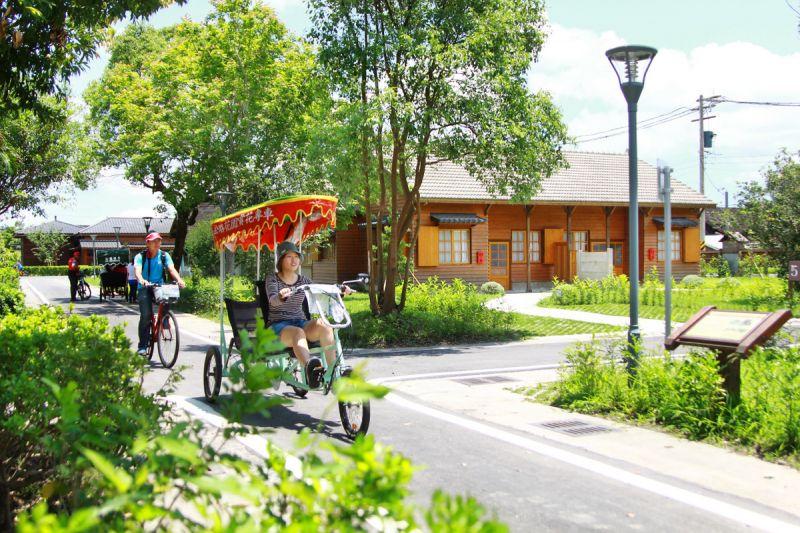 入住花蓮糖廠日式木屋客房,就贈送單車券,遊園更便利。(陳德偉攝影)