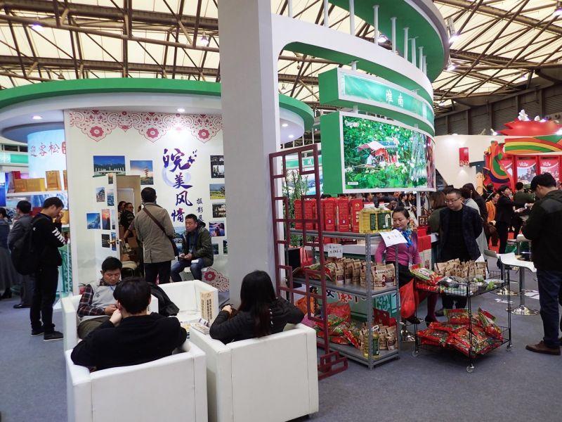 安徽展場設有攝影及當地特色商品,民眾參與度極高。