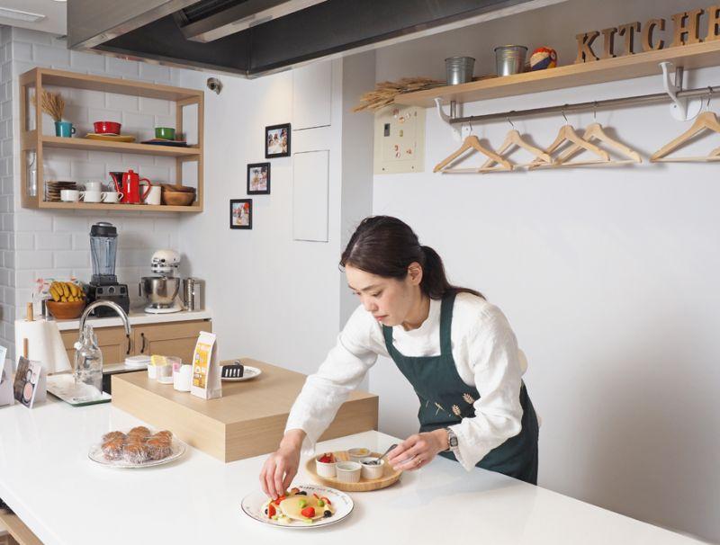 九州鬆餅料理廚房。(劉宸嘉攝