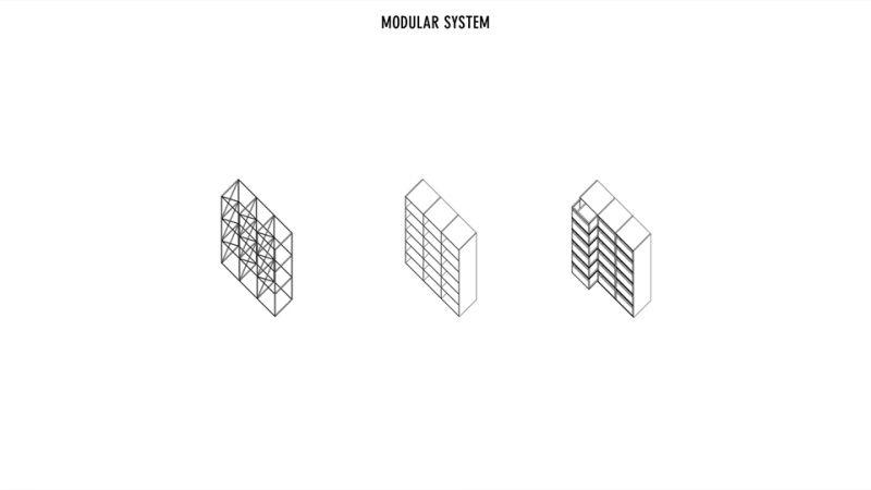 模組化的置入物件;圖片提供/究境建築