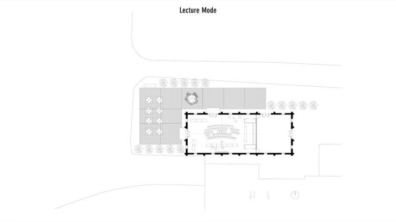 講堂模式;圖片提供/究境建築