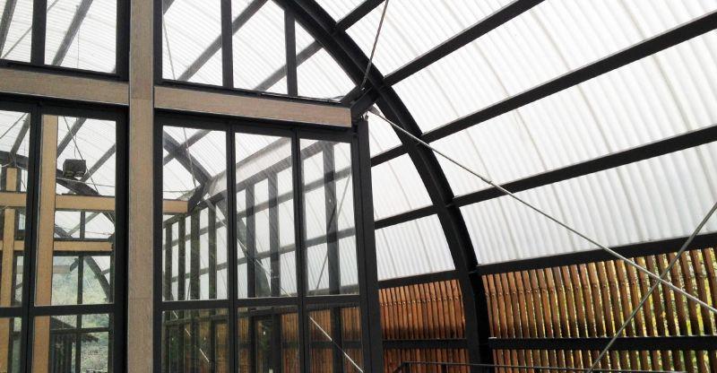 福山教堂 弧形屋頂;圖片提供/無有設計