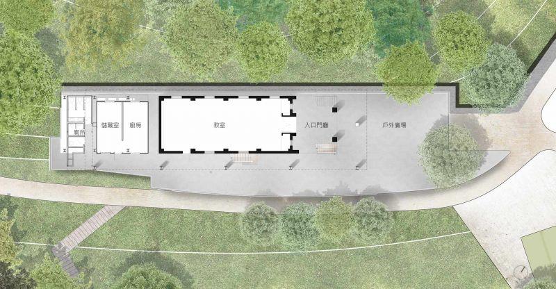 福山教堂 一層平面圖;圖片提供/無有設計