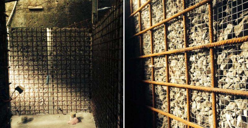 福山教堂 廁所碎石回收再利用作為牆材料;圖片提供/無有設計(吳宜晏攝影)