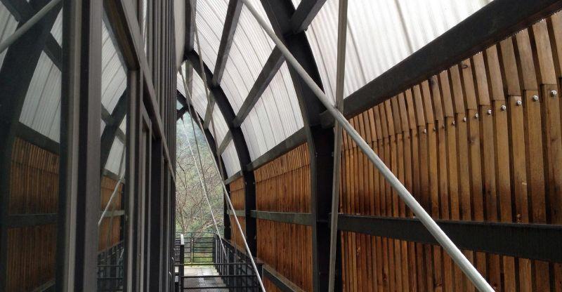 福山教堂 內部廊道;圖片提供/無有設計