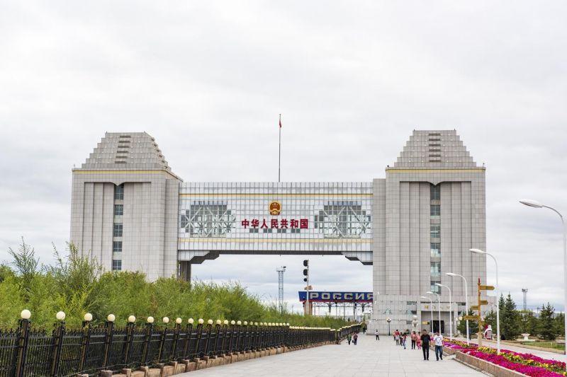 中俄跨國界旅行,必經的滿州里國門。(圖片來源:欣傳媒)