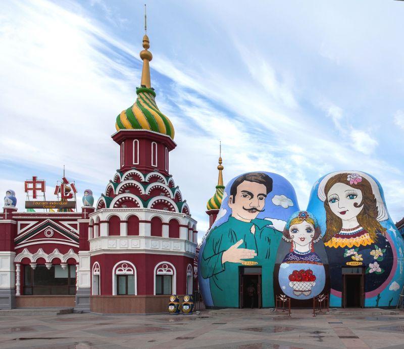 滿州里市內充滿俄羅斯色彩。(圖片來源:欣傳媒)