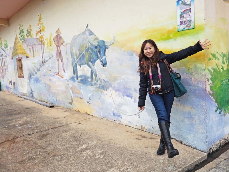 遊走彩繪巷,來一張趣味紀念照吧!(攝影/劉宸嘉)