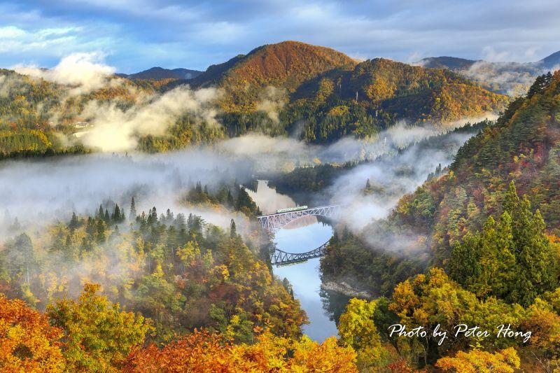 圖/這條位在日本東北的夢幻鐵道「福島只見線」可說是所有攝影鐵道迷夢寐以求的聖地,沿途風景秀麗,一年四季皆有不同風情之美/Peter Hong提供