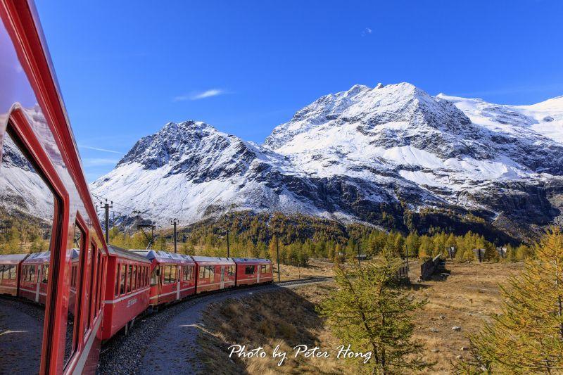 圖/瑞士/伯連那列車/Peter Hong提供