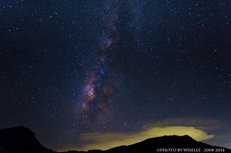 長時間曝光應用:銀河 圖攝/哈米貓