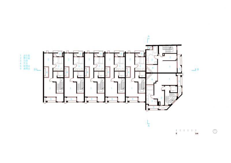 三層平面圖;圖片提供:沈庭增建築師事務所