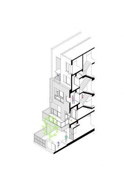等角透視圖;圖片提供:沈庭增建築師事務所