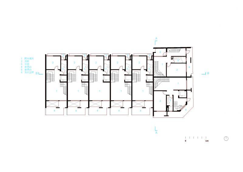 二層平面圖;圖片提供:沈庭增建築師事務所