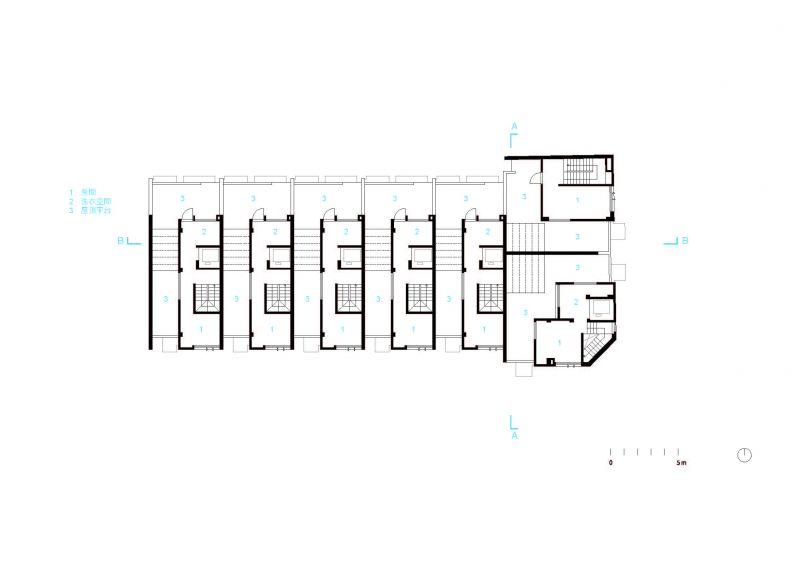 四層平面圖;圖片提供:沈庭增建築師事務所