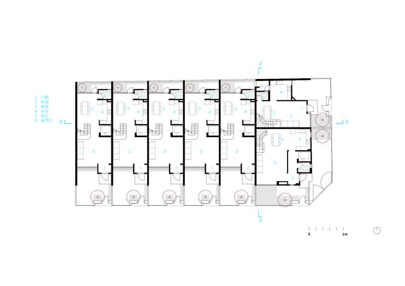 一層平面圖;圖片提供:沈庭增建築師事務所