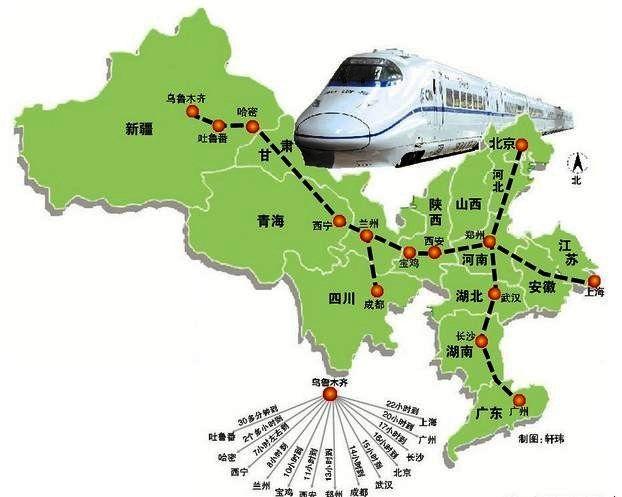 有了高鐵,甘肅新疆青海三省絲路,在也不必像過去一樣舟車勞頓。(圖片來源http://bit.ly/2oFwTml)