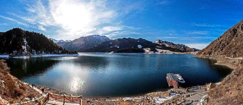 新疆天池,果如神話中瑤池美麗。(圖片來源 欣傳媒)