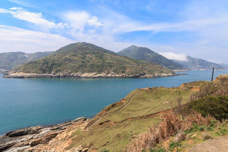 從大坵島上眺望海洋格外愜意 圖攝/吳仁凱