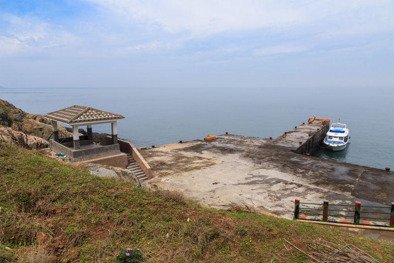 大坵島唯一的港口 圖攝/吳仁凱