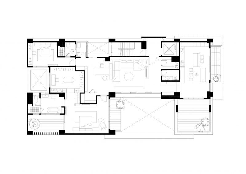 六層平面圖;圖面提供:張景堯建築師事務所