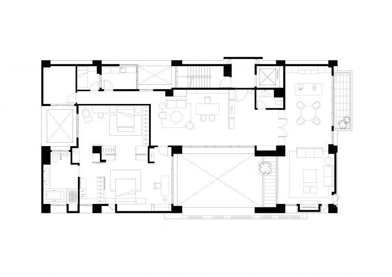 三層平面圖;圖面提供:張景堯建築師事務所