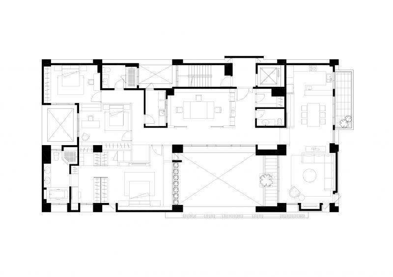 五層平面圖;圖面提供:張景堯建築師事務所