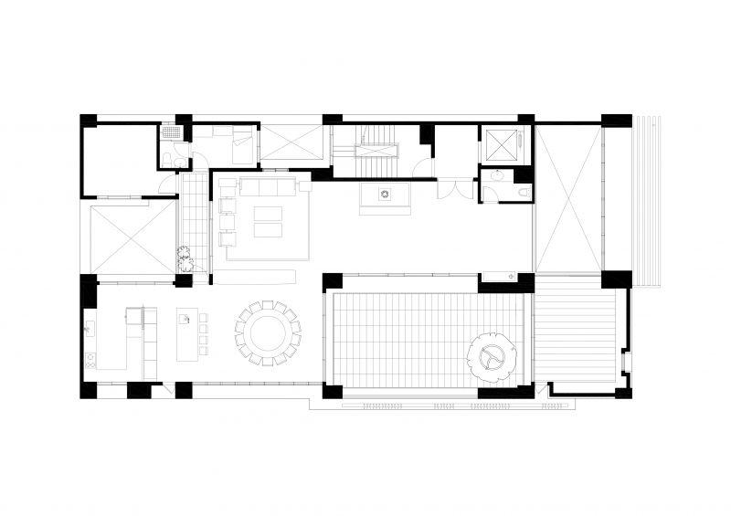 二層平面圖;圖面提供:張景堯建築師事務所