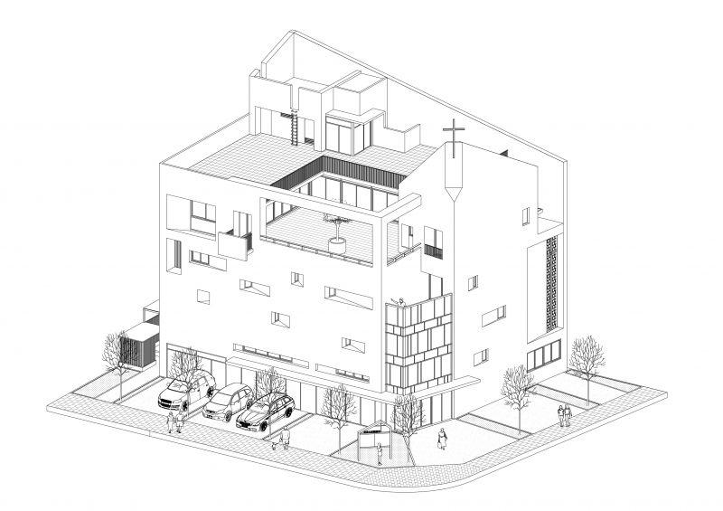等角圖;圖面提供:張景堯建築師事務所