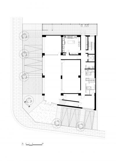 一層平面圖;圖面提供:張景堯建築師事務所