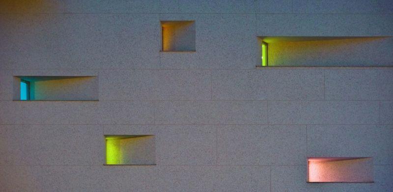斜深窗局部夜景;攝影:曾群儒