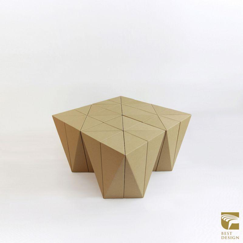 2016金點設計獎年度最佳設計作品─好好摺紙凳;圖片提供:台灣創意設計中心