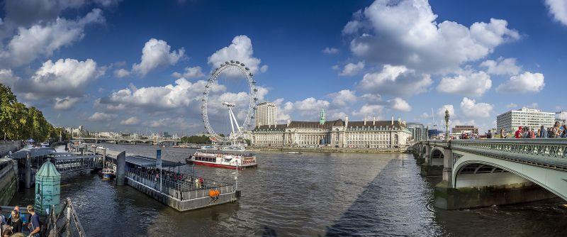 倫敦的河岸之景。(圖片來源:Flickr CC授權作者Luc Mercelis)