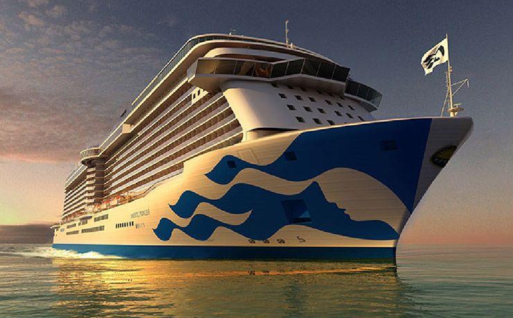 甫於2017新船下水的盛世公主號,2018要為賞櫻行程啟航(圖片來源:雄獅集團)