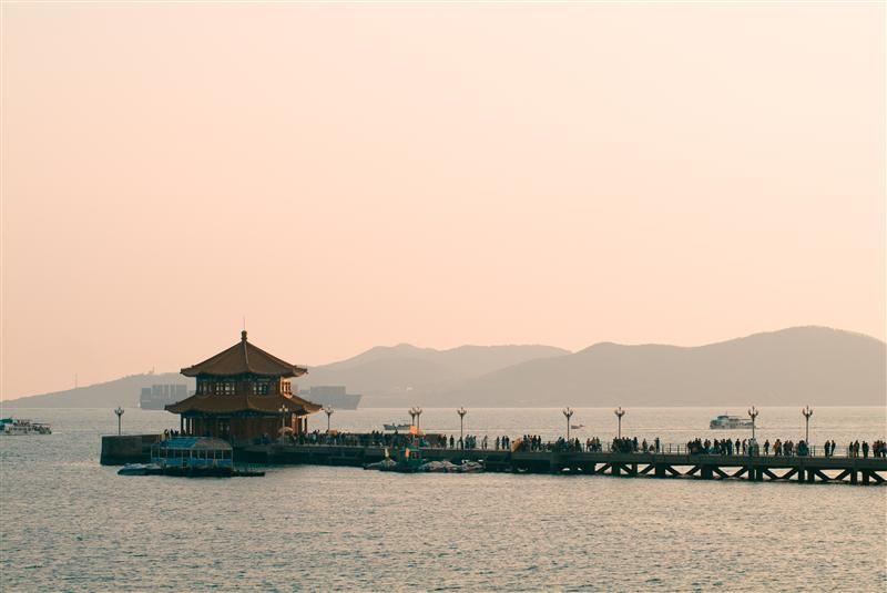 雙層八角亭閣-洄瀾閣。(圖片/山東省旅遊局提供)