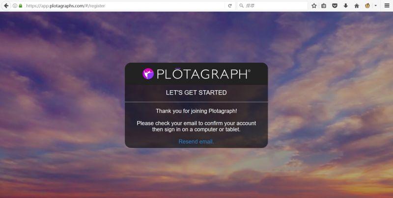 Plotagraph註冊步驟 - 4 | 圖 / 文 Cindy