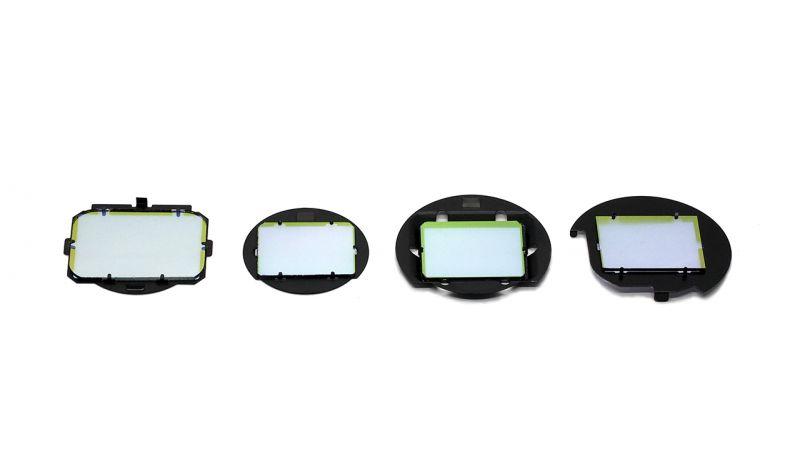 Clip Filter 內置型濾鏡新產品(由左至右):SONY A7/A9、Fujifilm APS-C、SONY APS-C、PENTAX APS-C