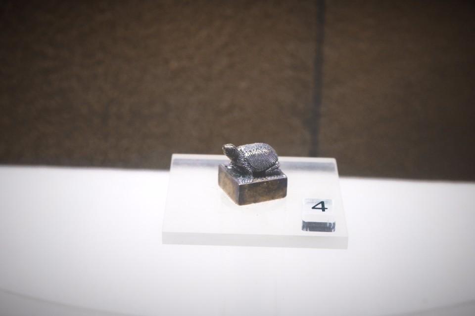 三國時期的龜組銀印(圖片來源:陳浪提供)