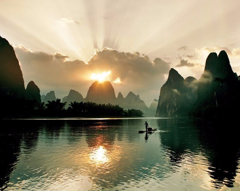 桂林灕江日出美景。(圖片:廣西旅遊發展委員會提供)
