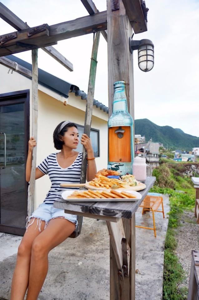阿欣是個熱愛台灣的背包客。(林郁姍/攝)