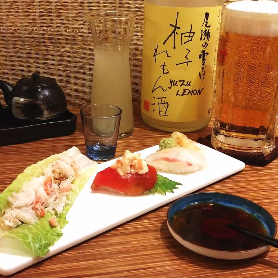 各式創意和食料理,配上青檸檬柚子酒,這就是人間美味!(圖片來源/義郎創作壽司粉絲團)