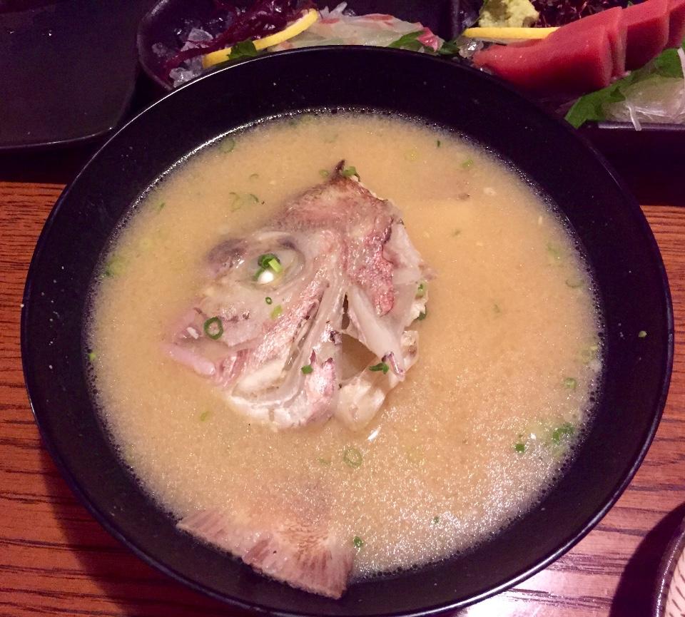 金目鯛魚骨味噌湯