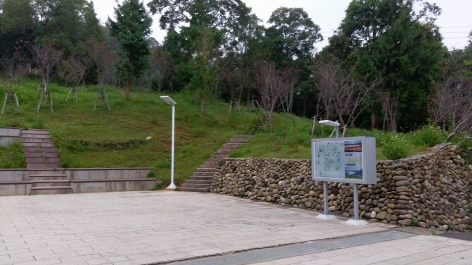 金龍山路燈架設位置 圖/山文雷克提供