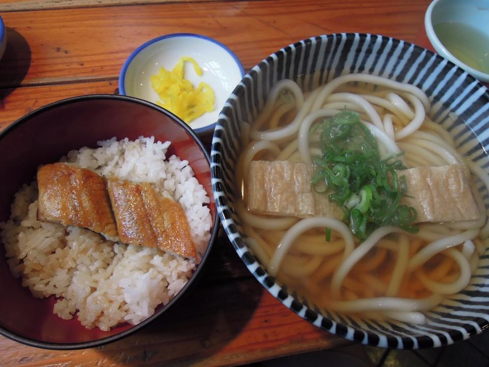 豆皮烏龍麵、鰻魚飯套餐